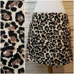 LOFT Animal Print Skirt